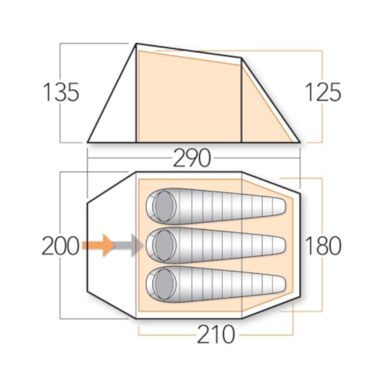 Ark 300 Tjöld [ N ] – Þriggja manna