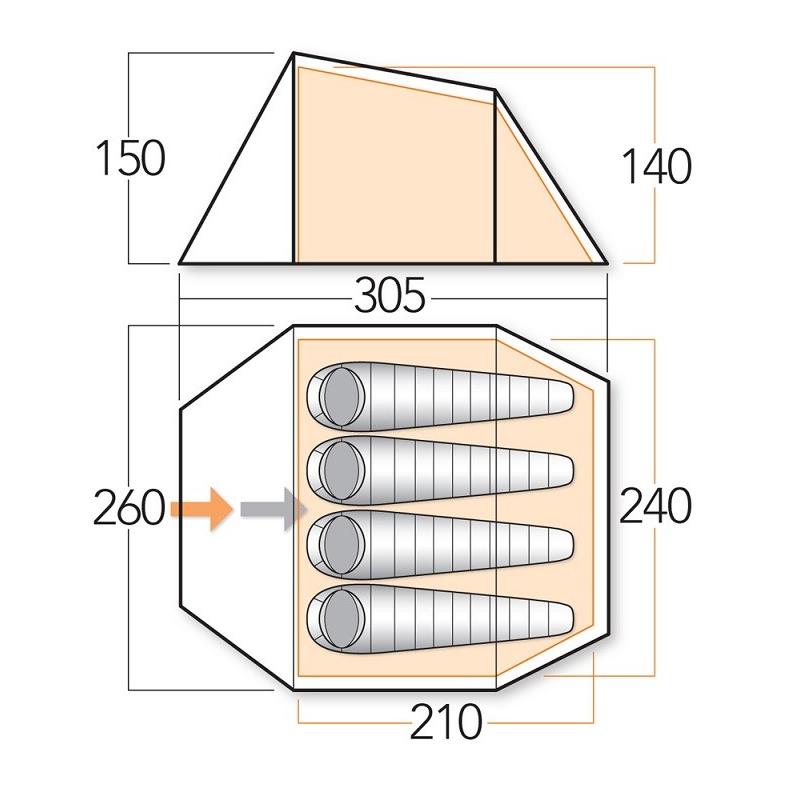 Ark 400 Tjöld [ N ] – Fjögurra manna